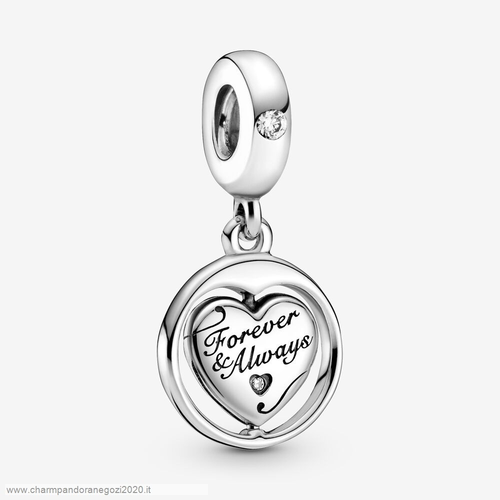 Promozione Pandora Cuore Spinning Forever & Always Soulmate Dangle Fascino