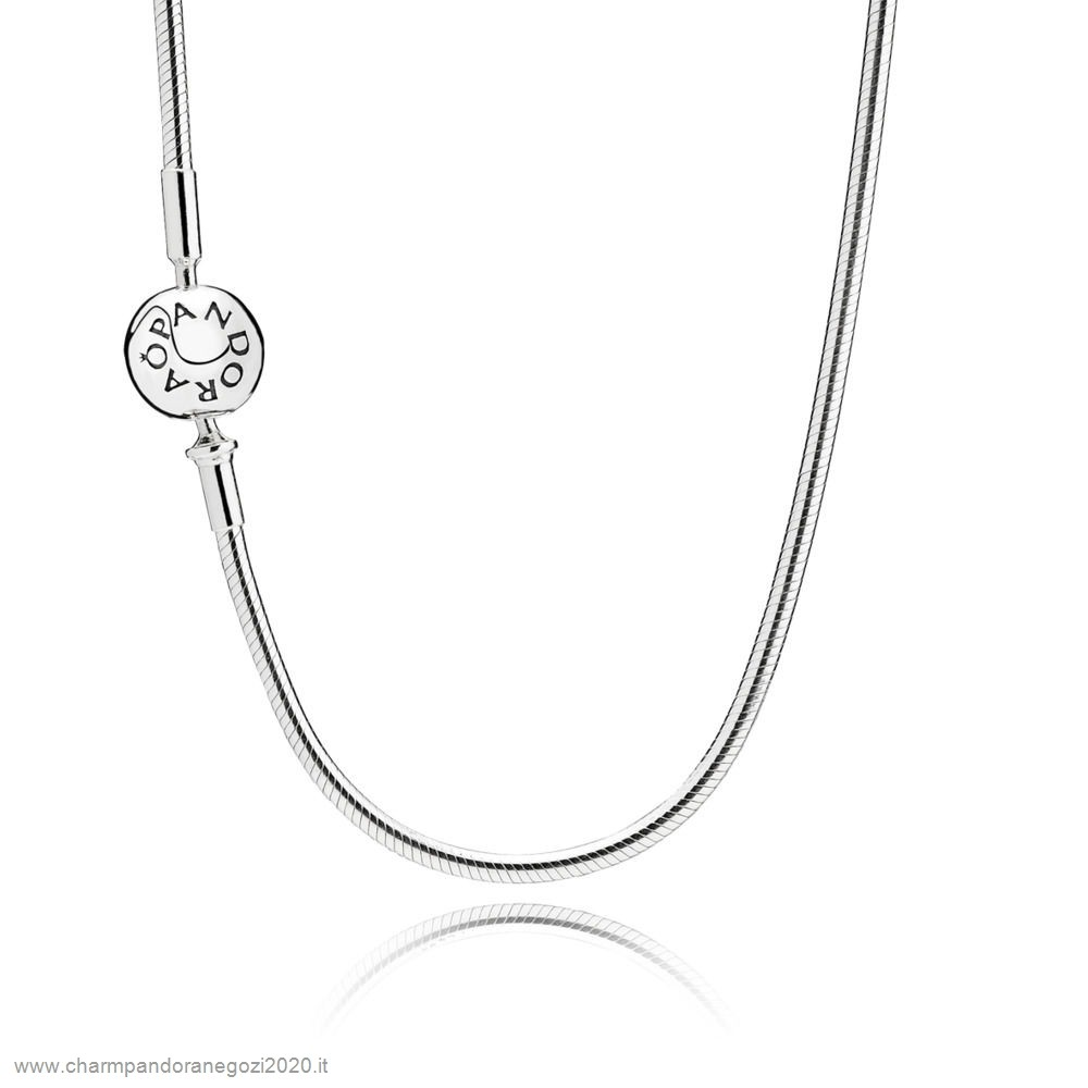 Promozione Pandora Cuore Essence Collection Silver Necklace